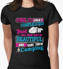 Camping Girls Are Not Complicated  T-Shirt