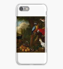 A Still Life With Fruit Parrots And A Cockatoo by Jakob Bogdani iPhone Case/Skin