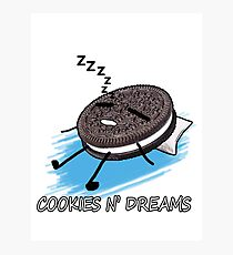 Cookies and Dreams (Sleeping Cookie) Photographic Print