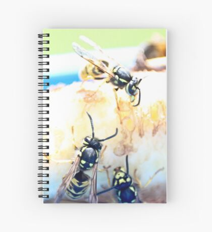 Feeding wasps Spiral Notebook