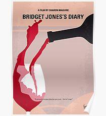 No563- Bridget Jones Diary minimal movie poster Poster
