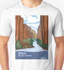 Vintage Travel Poster – Bruneau Wild and Scenic River, Idaho T-Shirt