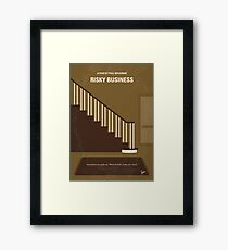 No615- Risky Business minimal movie poster Framed Print