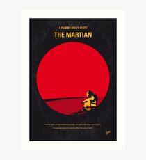No620- The Martian minimal movie poster Art Print