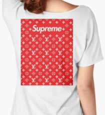 lv supreme Women's Relaxed Fit T-Shirt