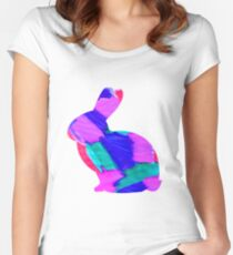 Colour Bunny Bounce Women's Fitted Scoop T-Shirt