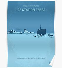 No711- Ice Station Zebra minimal movie poster Poster
