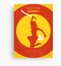 No722- Serenity minimal movie poster Canvas Print