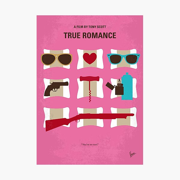 No736- True Romance minimal movie poster Photographic Print