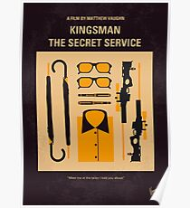No758- Kingsman minimal movie poster Poster
