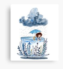 A Storm In A Teacup? Canvas Print