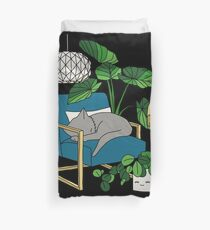 Cat nap by Elebea Duvet Cover