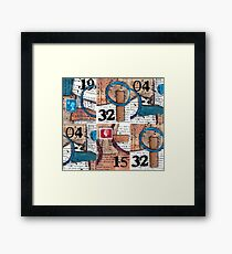 Vintage papers mixed media collage Framed Print