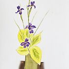 Iris arrangement , Watercolour. by Irene  Burdell