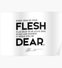 flesh, be dear - charlotte brontë Poster