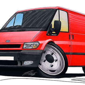 Ford Transit (Mk5) Red by yeomanscarart