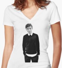 Nathan Sykes Women's Fitted V-Neck T-Shirt