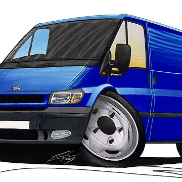 Ford Transit (Mk5) Blue by yeomanscarart