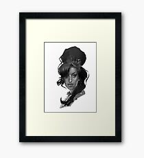 Amy Winehouse charismatic strong stylish singer Framed Print