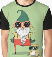 Wizard and Cat Graphic T-Shirt