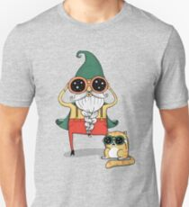 Wizard and Cat Unisex T-Shirt