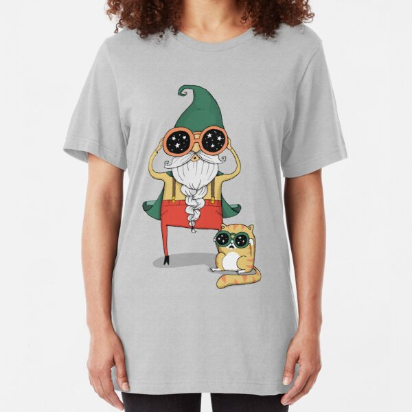 Wizard and Cat Slim Fit T-Shirt