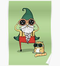Wizard and Cat Poster