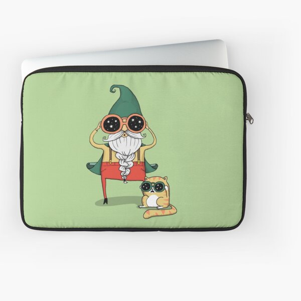 Wizard and Cat Laptop Sleeve