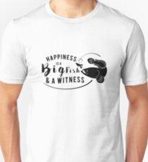 Fishing Funny Gift Happiness is Fish  grandpa Dad  Unisex T-Shirt
