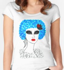 ''Blue'' Women's Fitted Scoop T-Shirt