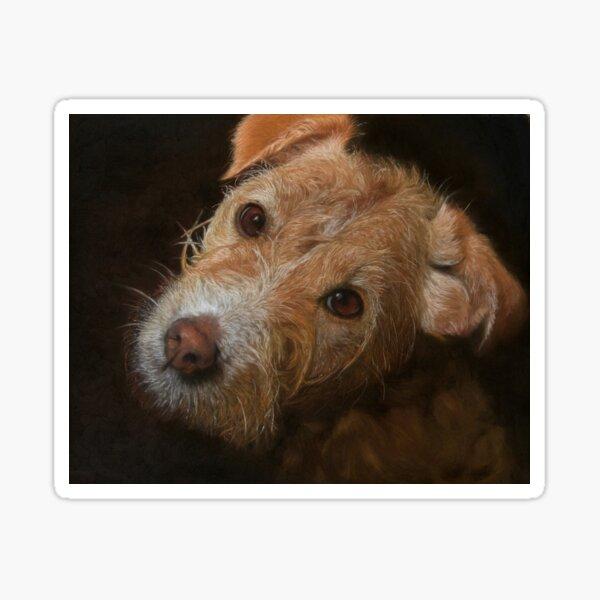 Terrier Dog Pastel Painting Artwork Sticker