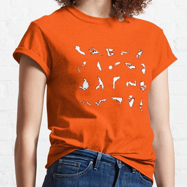 Minimalist Formula 1 Track Design in Pixels  Classic T-Shirt