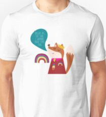 rapping hip hop series - fox, also see goat, unicorn, octopus T-Shirt