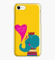 rapping hip hop series - elephant, also see goat, unicorn, octopus iPhone Case/Skin