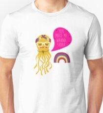 rapping hip hop series - octopus, also see goat, unicorn,  T-Shirt