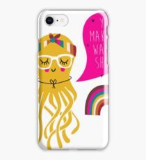 rapping hip hop series - octopus, also see goat, unicorn,  iPhone Case/Skin
