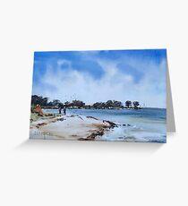 Walk at St Leonards Beach Greeting Card