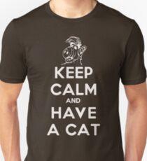 Keep Calm Cat White T-Shirt