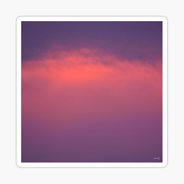 Mauve Sky Sticker