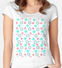 Flowers pattern Women's Fitted Scoop T-Shirt