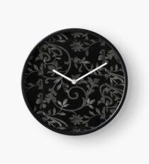 Grey Leafs Clock
