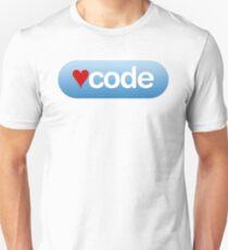 code button T-Shirt