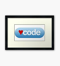 code button Framed Print