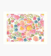 watercolor floral Art Print