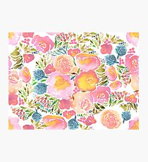 watercolor floral Photographic Print