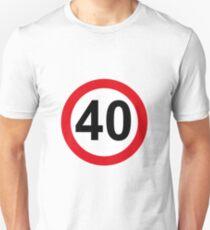 Camiseta unisex 40 cumpleaños