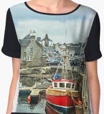 Bowmore Harbour, Isle of Islay. Women's Chiffon Top