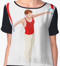 Artistic Gymnastics Rings Athlete male  Women's Chiffon Top