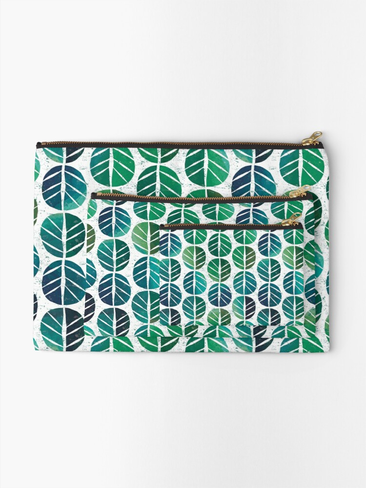 Alternate view of i love Green Leaf Zipper Pouch