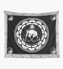 Buddha Black & White Yin & Yang Flower Of Life Wall Tapestry